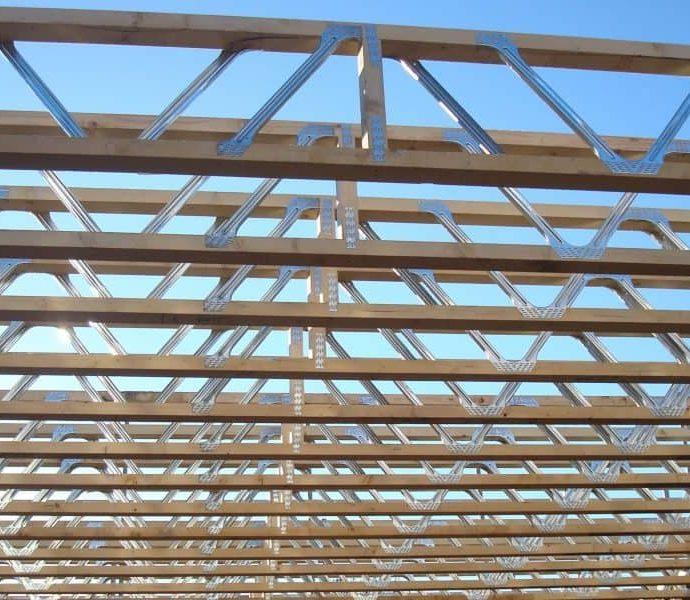 case din lemn, sudura lemnului, placi multicui, sarpanta industrializata din lemn, MiTek Romania, Grinzi POSI JOIST
