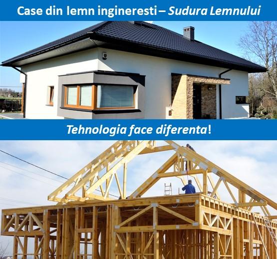 case din lemn executate industrializat