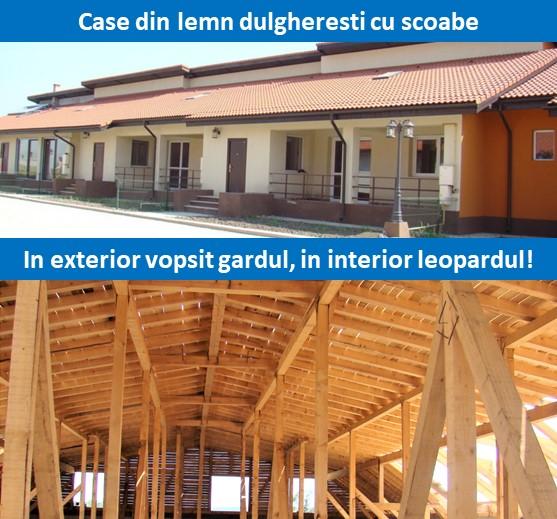 case din lemn executate de dulgheri neexperimentati