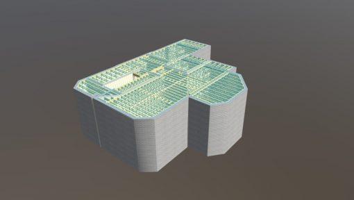 Utilizare grinzi POSI la forma complexa de cladire
