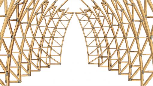 proiect 3d sarpanta din lemn catedrala