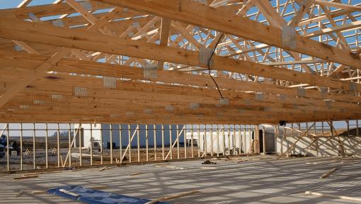 ferma din lemn asamblata cu placi multicui