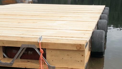 ponton din lemn cu grinzi posi-strut
