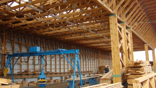 hala productie din lemn
