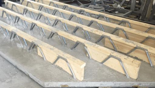 planseu prefabricat din lemn cu grinzi posi-strut