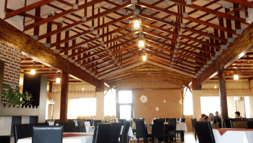 sarpanta prefabricata din lemn restaurant