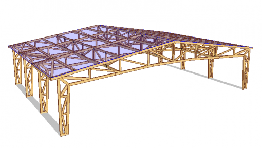 proiect 3d terasa restaurant din lemn