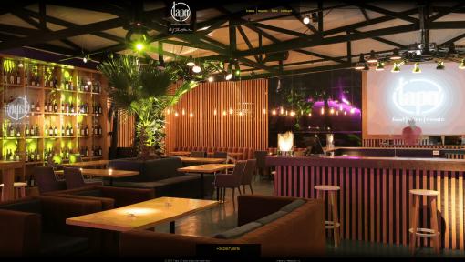 terasa restaurant din lemn