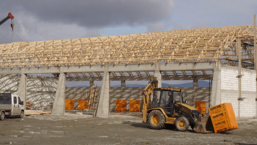 depozit structura din lemn asamblata cu placi multicui