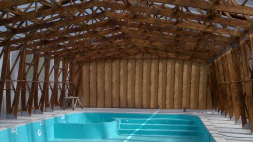 sarpanta din lemn cu ferme prefabricate tip portal