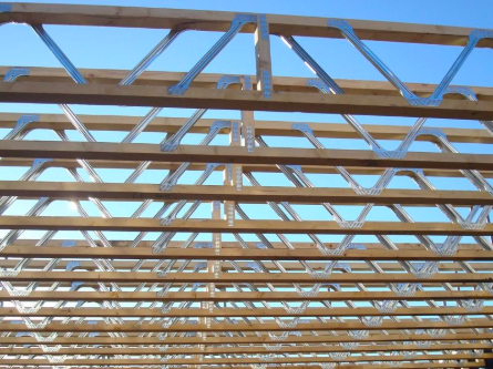 close-up image of the open web design of a Posi-Joist