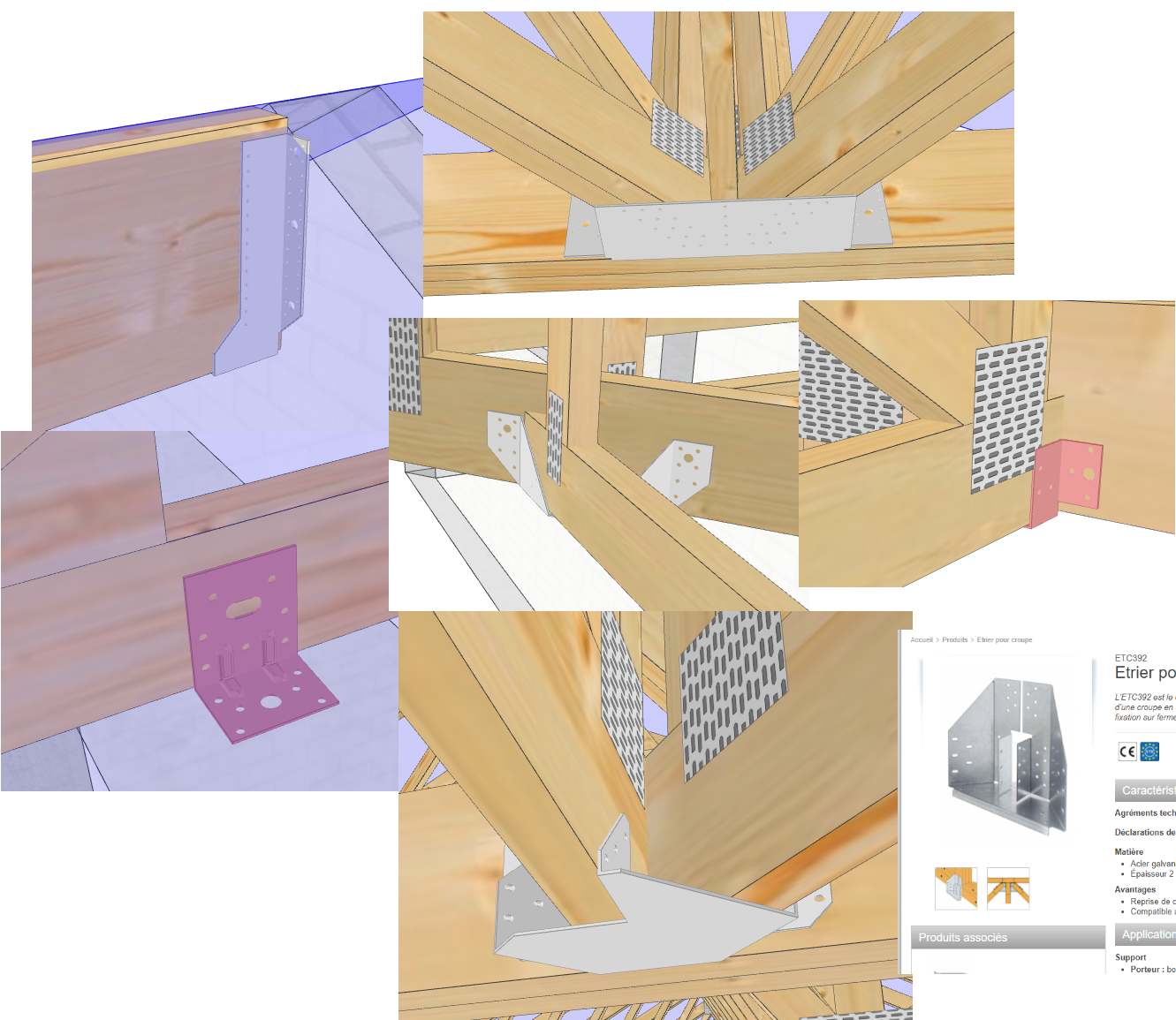 QR code module ossature bois